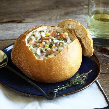 New England Clam Chowder with Sourdough Bowls Recipe   SideChef