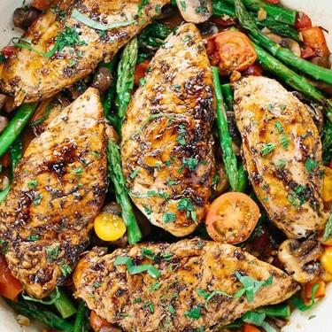 Balsamic Chicken and Asparagus Recipe | SideChef
