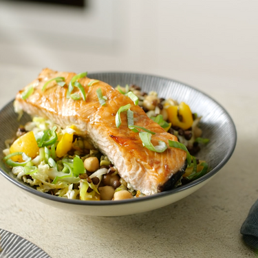 Salad with Salmon and Lentils Recipe | SideChef
