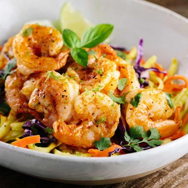 Thai Spiced Shrimp with Vegetable Noodles Recipe | SideChef