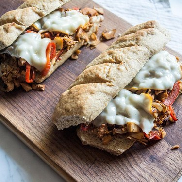 Vegetarian BBQ Jackfruit Sandwich with Caramelized Veggies Recipe   SideChef
