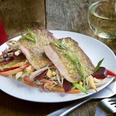 Wasabi Pea Crusted Salmon Recipe | SideChef