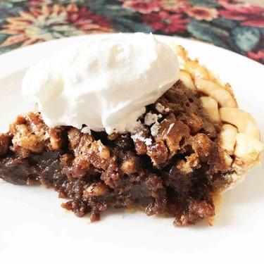 Lightened Up Chocolate Bourbon Pecan Pie Recipe | SideChef