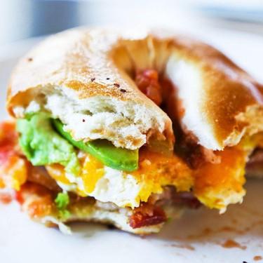 Loaded Bagel Breakfast Sandwiches Recipe | SideChef