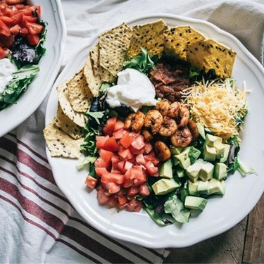 Easy Shrimp and Avocado Taco Salad Recipe   SideChef