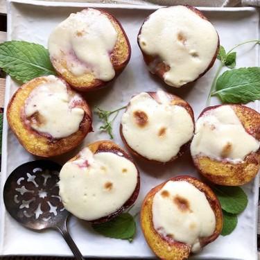 Cheesecake-Stuffed Peach Halves Recipe   SideChef