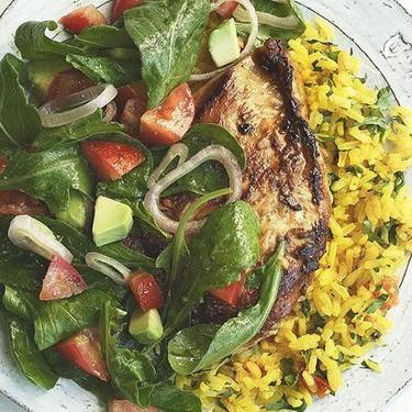 Desmadres Lime-Garlic Chicken with Arugula Recipe   SideChef