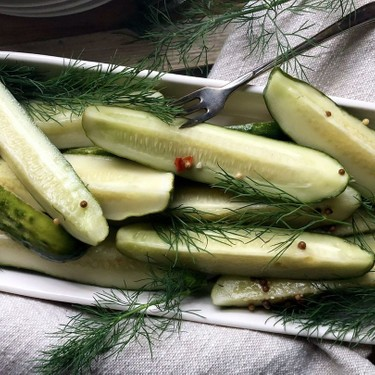 Homemade Refrigerator Dill Pickles Recipe   SideChef
