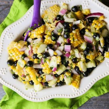 Corn and Blueberry Salad Recipe | SideChef