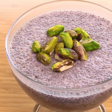 Blueberry Chia Seed Pudding with Pistachios Recipe   SideChef