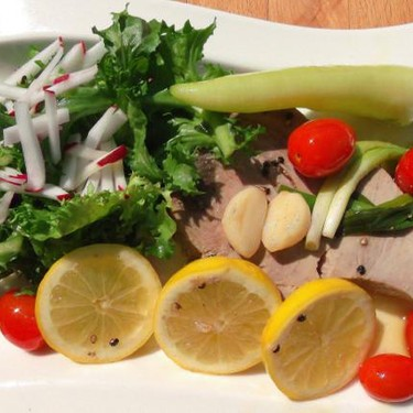 Tuna Steak Poached in Olive Oil Recipe   SideChef