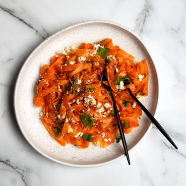 Spicy Carrot Feta Ginger Salad Recipe | SideChef