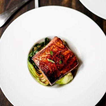 Tea Smoked Salmon with Five Spice and Bok Choy Recipe | SideChef