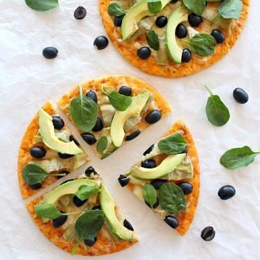 Artichoke Avo Black Olive Pizza Recipe | SideChef
