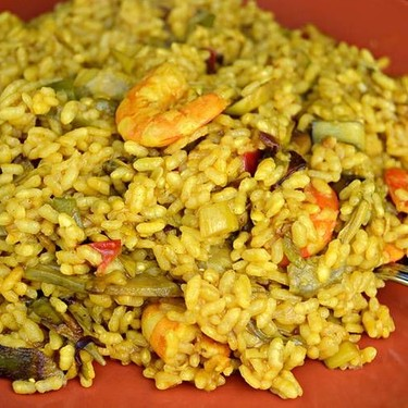 Curry Rice with Langostinos and Vegetables Recipe   SideChef