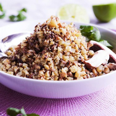 Cauliflower Mushroom Rice Recipe | SideChef