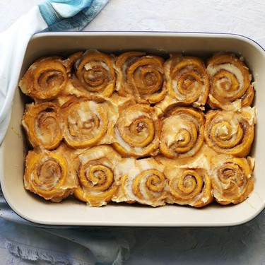 Pumpkin Cinnamon Rolls with Browned Butter Frosting Recipe   SideChef