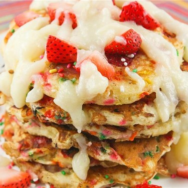 Funfetti Strawberry Pancakes Recipe   SideChef