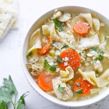 Crockpot Chicken Noodle Soup Recipe | SideChef