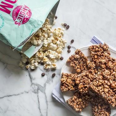 Chocolate Peanut Butter Popcorn Bars Recipe | SideChef