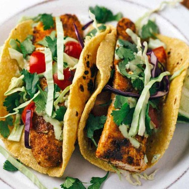 Blackened Mahi Mahi Fish Tacos with Avocado Lime Sauce Recipe   SideChef
