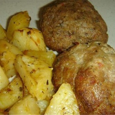 Oven Roasted Burgers and Potatoes Recipe | SideChef