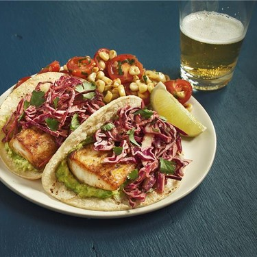 Fish Tacos with Chipotle Crema, Corn, and Tomatoes Recipe | SideChef