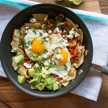 Chilaquiles with Chipotle Adobo Pepper and Avocado Recipe | SideChef