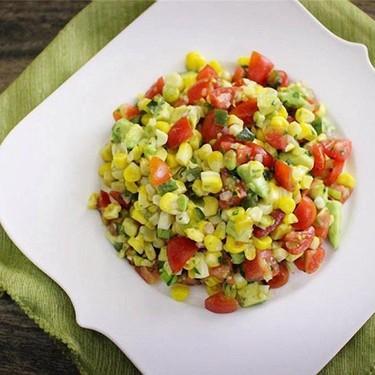 Tomato, Roasted Corn, and Avocado Salad Recipe | SideChef