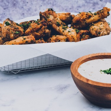 Lemon Pepper Wings with Homemade Spicy Ranch Recipe   SideChef