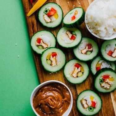 Tofu Stuffed Cucumber Sushi Roll Recipe | SideChef