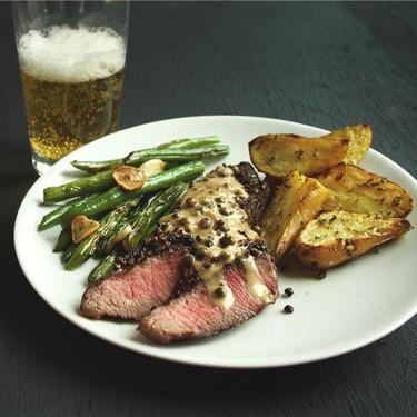 Steak Au Poivre with Roasted Rosemary Potatoes Recipe   SideChef