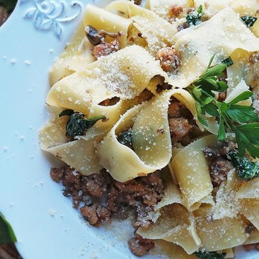 Spicy Sausage and Mushroom Pappardelle Recipe | SideChef