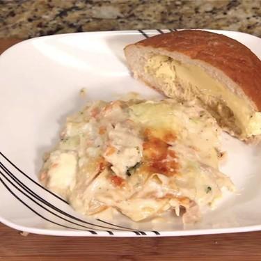 Lazy Man's Alfredo Chicken Lasagna Recipe | SideChef