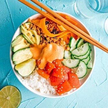 """Vegan """"Tuna"""" Sushi Bowl Recipe   SideChef"""
