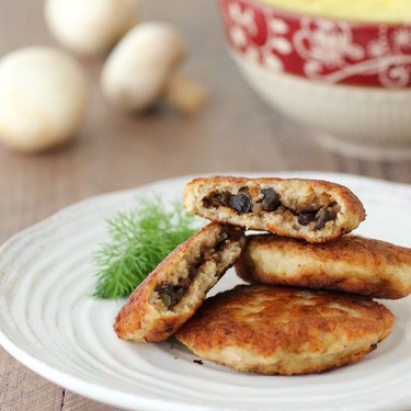 Chicken Kotleti with Mushroom Stuffing Recipe | SideChef