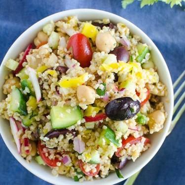 Mediterranean Cracked Wheat Salad Recipe | SideChef