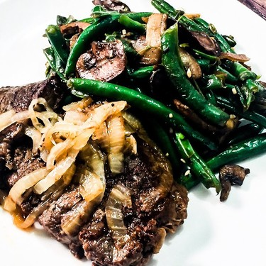 Fork Tender Steak with Green Beans and Mushrooms Recipe | SideChef