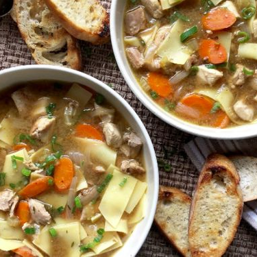 Quick and Rich Chicken Soup with Fresh Noodles Recipe | SideChef