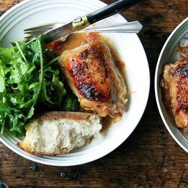 One-Pan Roasted Chicken with Sherry Vinegar Sauce Recipe | SideChef