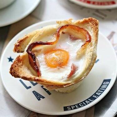Bacon Egg Toast Cups Recipe   SideChef