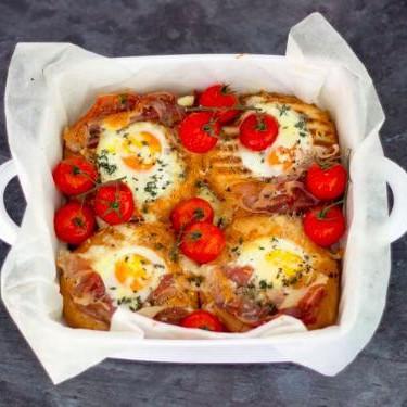 Tomato and Parma Ham Breakfast Egg Bake Recipe   SideChef