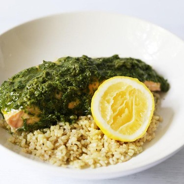Steamed Herb Salmon and Brown Rice Recipe | SideChef