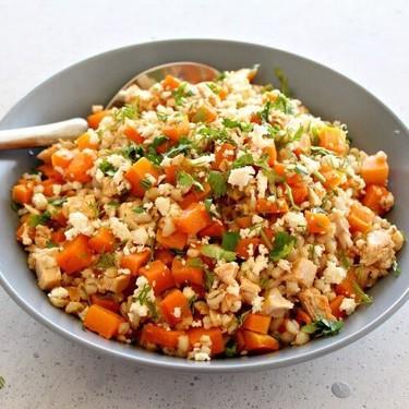 Sesame Chicken Butternut Barley Salad Recipe | SideChef