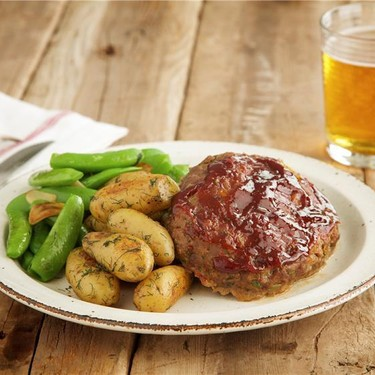 Individual Meatloaves with Potatoes and Peas Recipe   SideChef