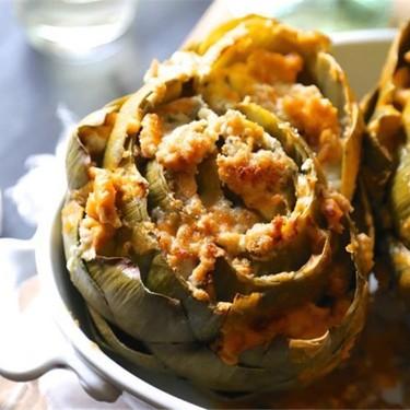 Baked Buffalo Chicken Stuffed Artichokes With Blue Cheese Recipe | SideChef