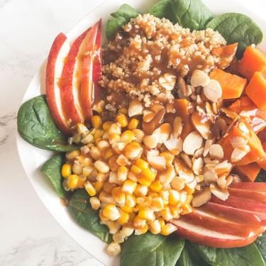 Vegan Quinoa Bowl with Peanut Dressing Recipe   SideChef