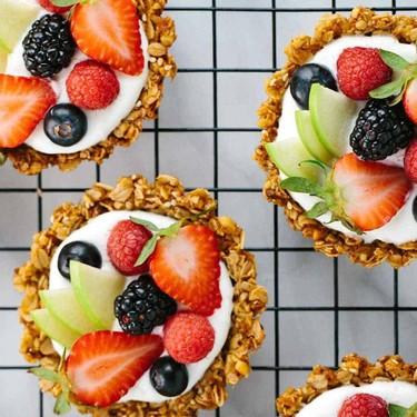 Breakfast Granola Fruit Tart with Yogurt Recipe | SideChef