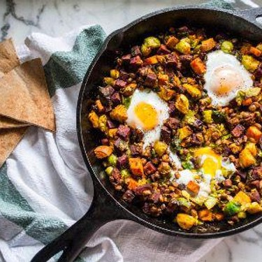Sweet Potato and Brussels Sprouts Breakfast Bowls Recipe | SideChef