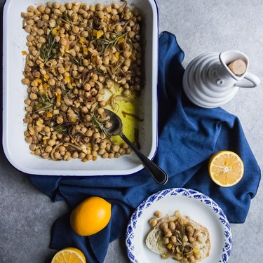 Oven Roasted Preserved Lemon Chickpeas Recipe | SideChef